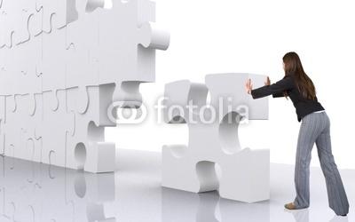 照片:企业团队精神的商人建立