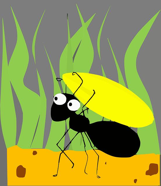 卡通,蚂蚁,昆虫,蚂蚁(cartoon