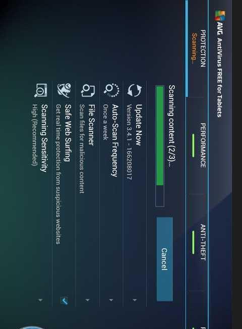 杀毒 - 平板电脑 Tablet AntiVirus-应用截图