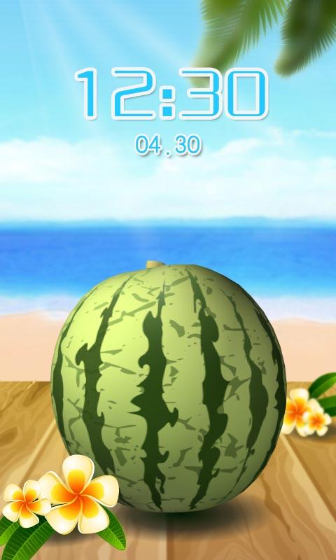切西瓜创意游戏主题锁屏