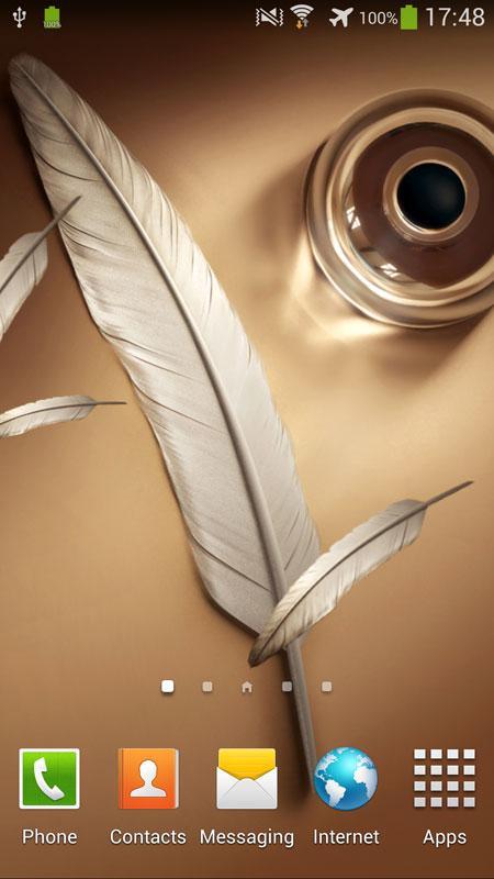 浮动羽毛动态壁纸