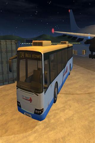 机场巴士停车3D