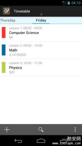 Timetable课程表