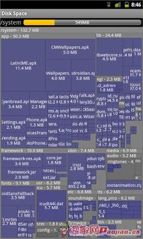 手机存储空间视图
