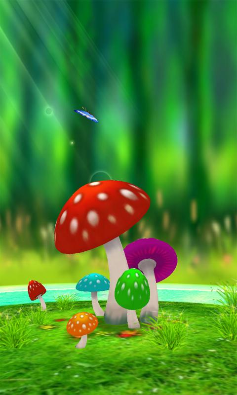 超清3D蘑菇动态壁纸