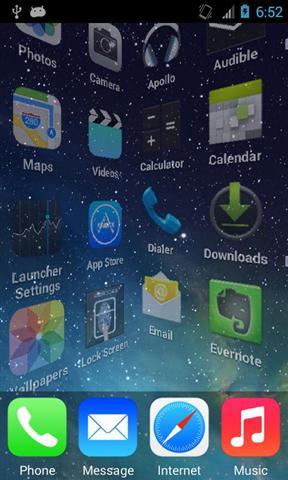 仿iPhone 5S 主题|玩個人化App免費|玩APPs