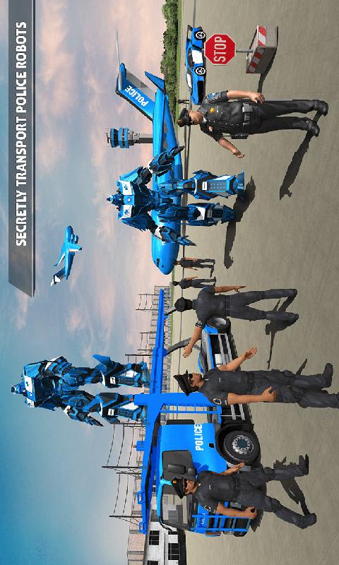 警察机器人汽车游戏-应用截图